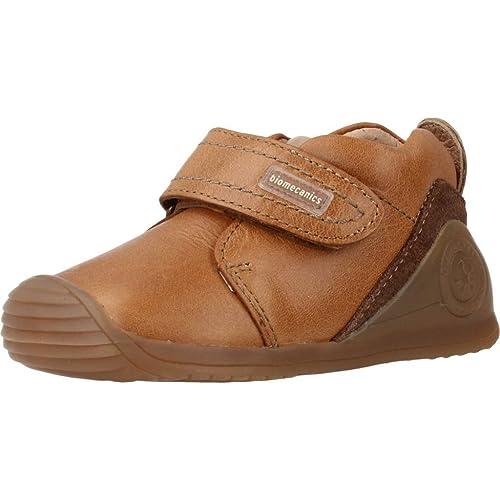 Biomecanics 161147, Zapatillas de Estar por casa Bebé-para Niños, Marrón (161147/C/Amz Cuero (Kaiser), 18 EU: Amazon.es: Zapatos y complementos