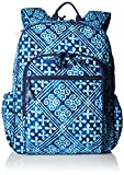 Women's Campus Tech Backpack, Signature Cotton, Cuban Tiles