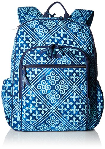 Women's Campus Tech Backpack, Signature Cotton, Cuban Tiles by Vera Bradley