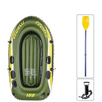Barco de Goma Inflable, Barco de Pesca de río para 1 Persona ...