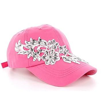 Gorras de béisbol Golf Tenis ejecutando Caps Denim Mujer Rhinestones niñas señoras Hip Hop sombreros gorras Snapback Lace Flores ...