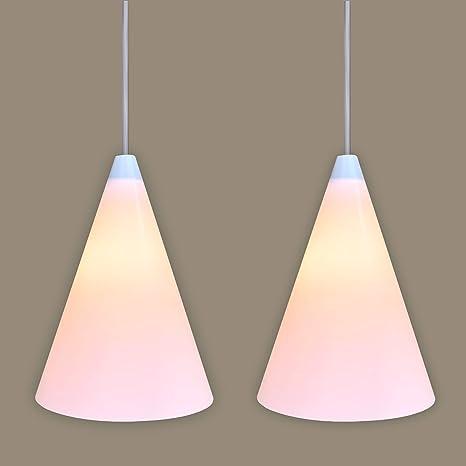 Set de 2 pantallas con cierre magnético para bombillas colgantes/lámparas de techo