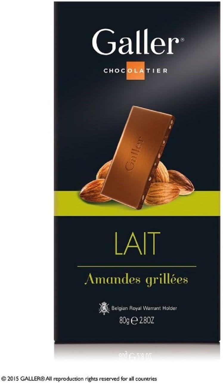 Galler - Tableta de chocolate con leche y almendras: Amazon.es ...