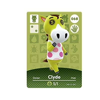 Nintendo Animal Crossing Happy Home Designer Amiibo Card 68 Clyde 068/100: Toys & Games