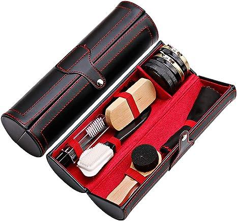 HUAH 10 in 1 Shoe Shine Kit Box, Boot Polishing Cleaning Set