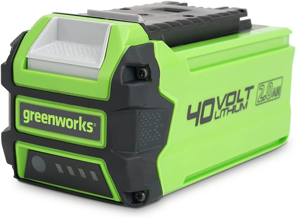 Greenworks Tools Battery G40b2 Li Ion 40 V 2 Ah Rechargeable Powerful Battery Suitable For All Devices Of The 40 V Greenworks Tools Series Baumarkt