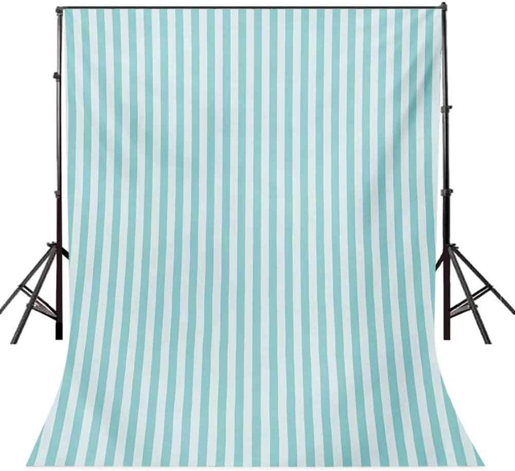 Stripes 10x12 FT Photo Backdrops,Vertical Line Pattern in Pastel Colors Abstract Geometric Composition Background for Baby Shower Bridal Wedding Studio Photography Pictures Pale Blue Pale Sea Green
