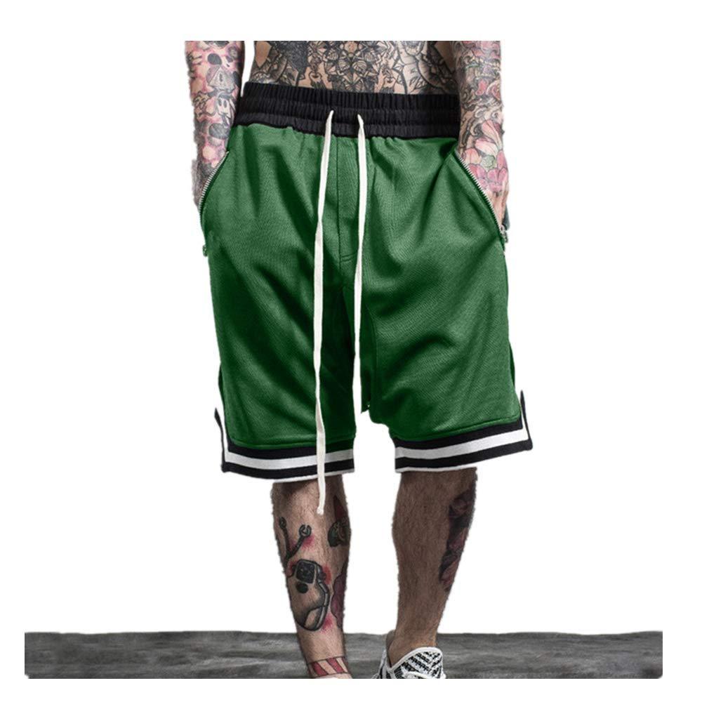 F_Gotal Mens Pants PANTS メンズ B07QZFH6XM グリーン Large