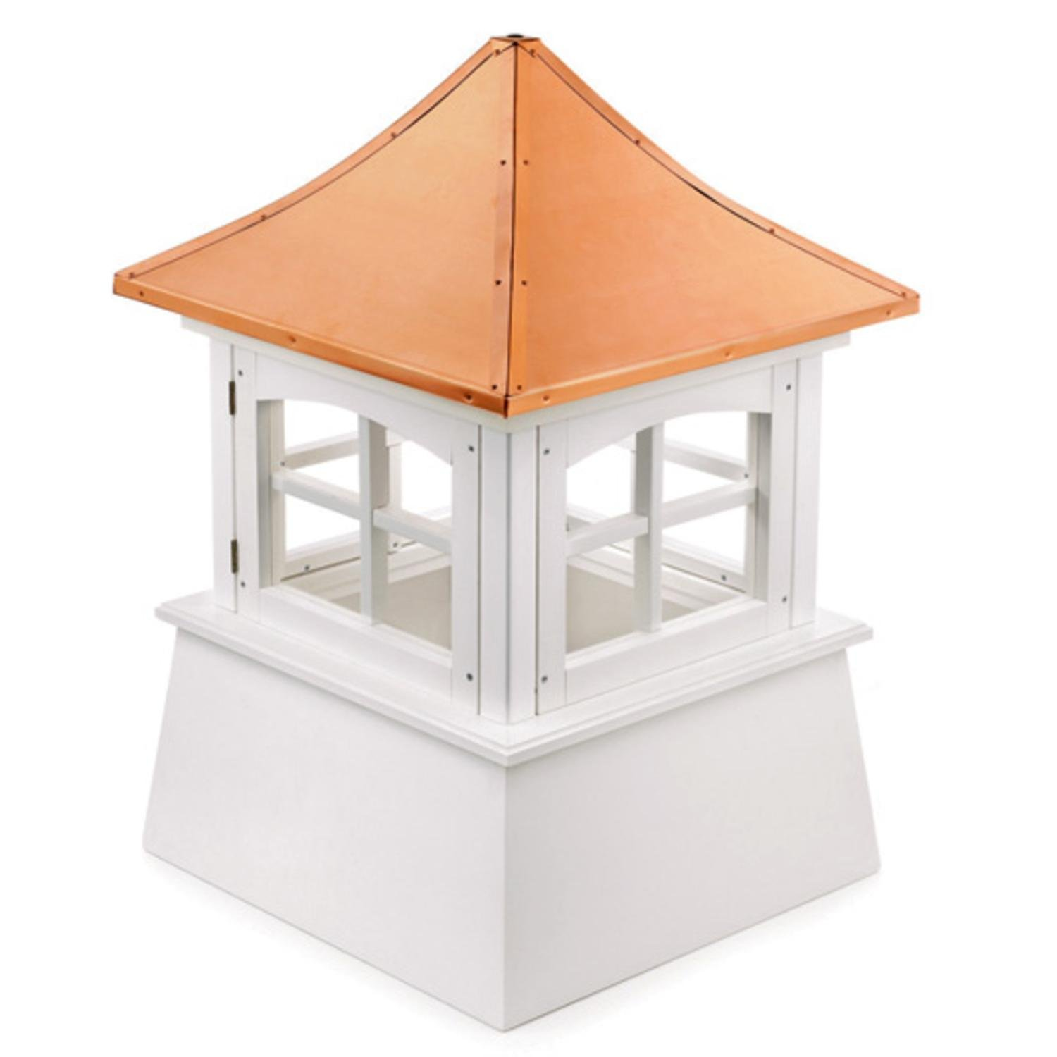 61'' Handcrafted ''Windsor'' Copper Roof Vinyl Cupola
