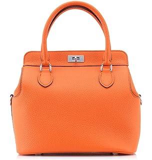 54af5aa3a05f Ainifeel Women s Genuine Leather Tote Bag Top Handle Handbags ...