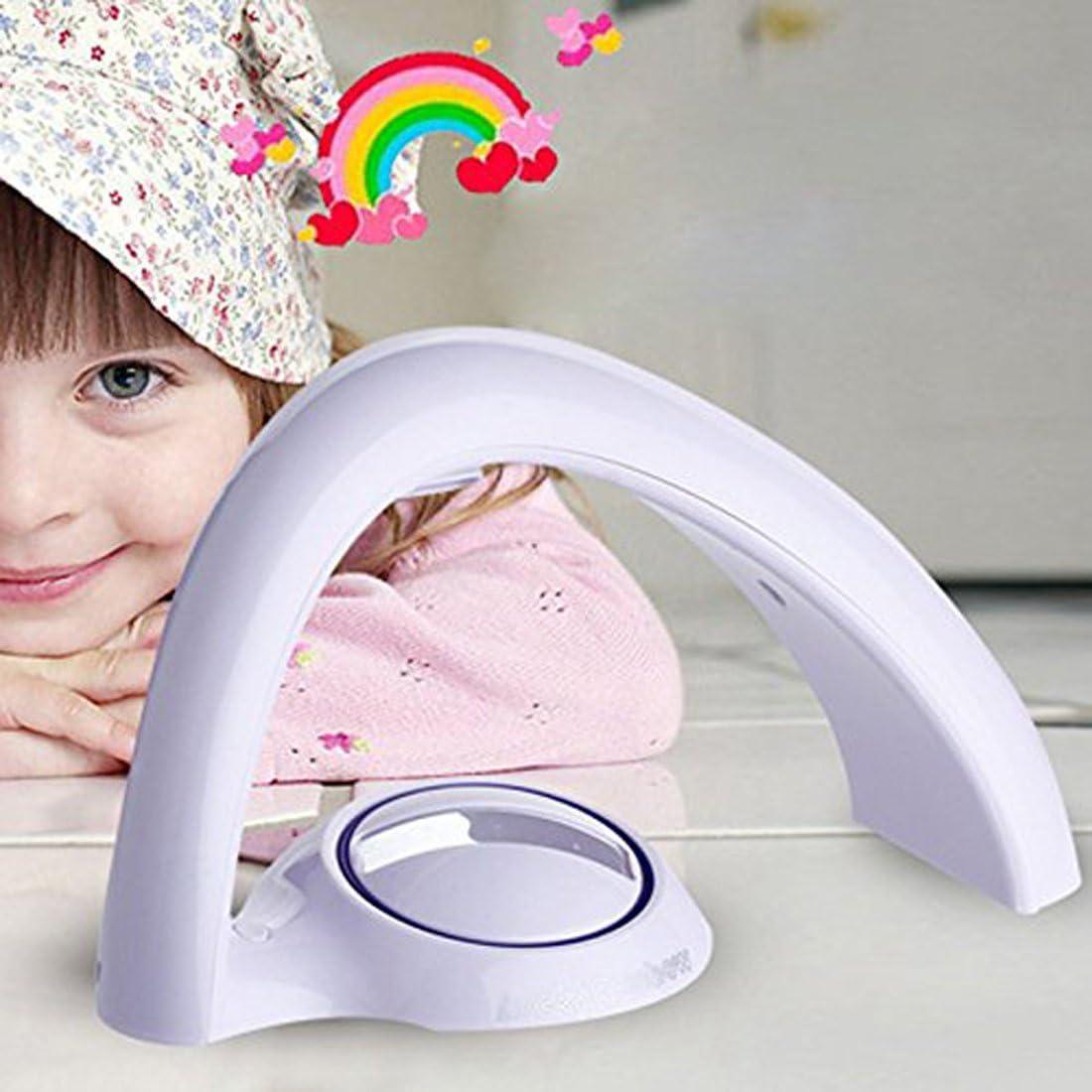 LED Kid Night Light Battery Bedroom Lamp Baby Children Rainbow Projector Light