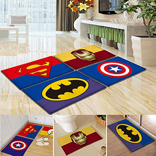 Amazon.com: Superman Mats Cover Non Slip Machine Washable Outdoor Indoor  Bathroom Kitchen Decor Rug ,: Kitchen U0026 Dining