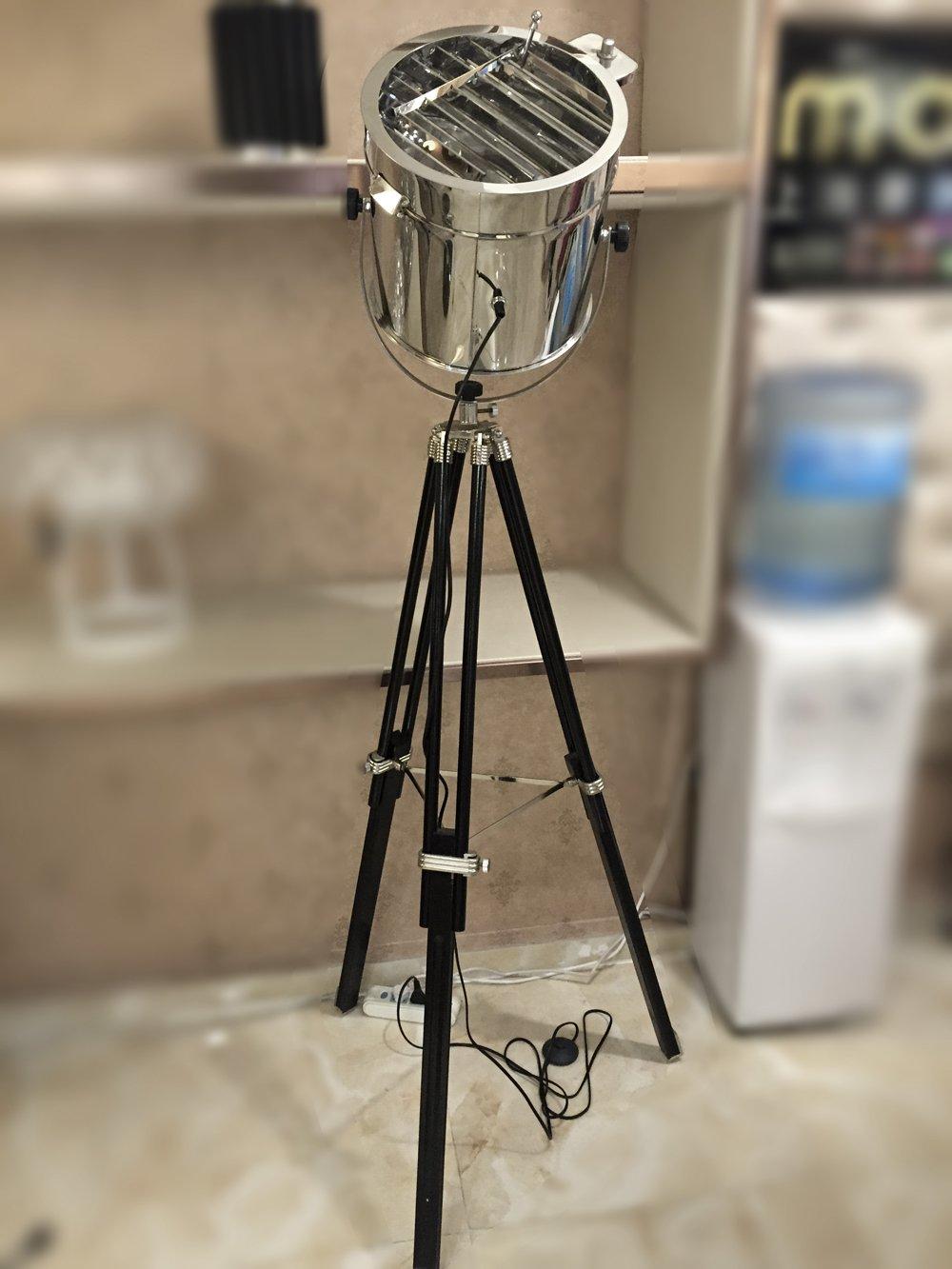 Royal master sealight floor lamp - British Royal Master Stainless Steel Wood Tripod Floor Lamp Amazon Com