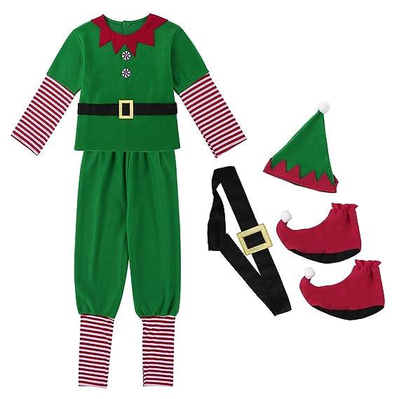 d977f4108c0dd dPois Adulte Homme Lutin Ensemble Noël Déguisement Costume de Carnaval  Cosplay Elf Chapeau Lutin Tenue Jeu
