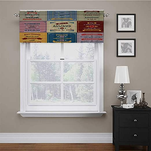 Amazon Com Window Curtain Valance Collection Of Motivational Quotes Success Positive Attitude Themed Artwork Print Windows Room Darkening Curtain Valances Make Your Bathroom Look Glamorous Pink 42 X 18 Inch Home Kitchen