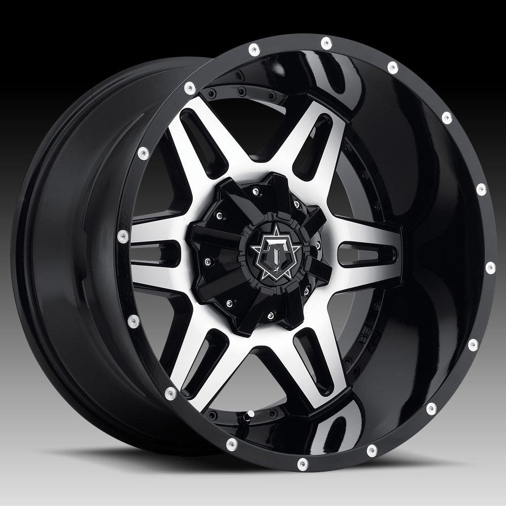 TIS 538MB 20x12 8x165.1 -44mm Black/Machined Wheel Rim