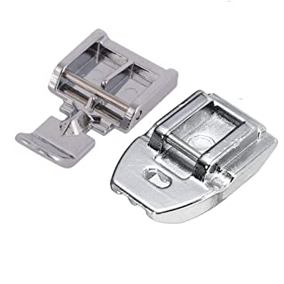 YaDu Packs of Zipper Sewing Machine Presser Foot and Concealed Invisible Zipper Foot for All Low Shank Snap-On Singer, Brother, Babylock, Janome, Kenmore, Juki, New Home, Elna