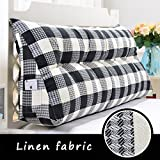 Lumbar Pillows Bed Pillows Positioners Triangle Large Cushions Suitable Bed/Sofa / Bay Window can be Opened to wash Filled Pearl Cotton Tatami