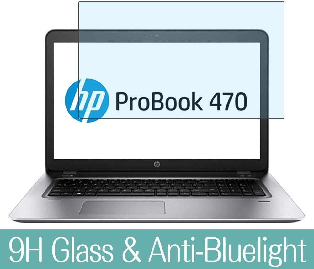 "Synvy Anti Blue Light Tempered Glass Screen Protector for HP ProBook 470 G4 17.3"" Visible Area 9H Protective Screen Film Protectors"