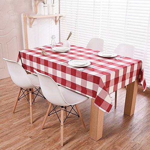 Hotel   tablecloth   cloth   cloth   tablecloth   European   table   cloth   fashion   lattice   table mat   tea table   tablecloth  135180cm,Rosso,       170 cm 90