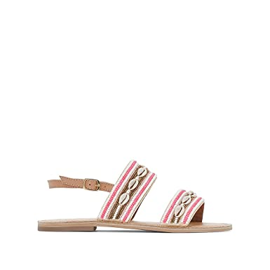 db27ef43c51 Amazon.com: La Redoute Collections Womens Leather Sandals With ...