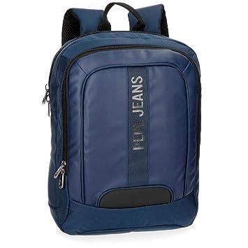 Pepe Jeans Bromley Mochila Tipo Casual, 40 cm, 10.8 litros, Azul: Amazon.es: Equipaje