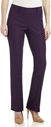 REKUCCI Women's Ease in to Comfort Fit Barely Bootcut Stretch Pants 6 Deep Plum