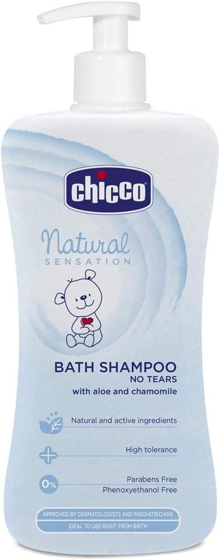 Chicco Natural Sensation - Gel de baño y champú sin lágrimas, 500 ml