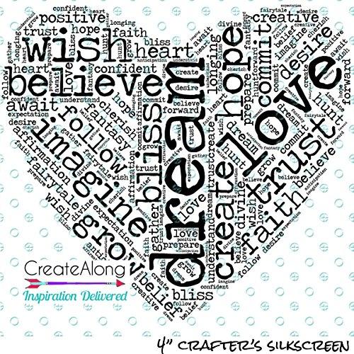 Polymer Clay Hearts (Dream Heart Silkscreen Stencil word art pattern crafting, polymer clay + mixed media)