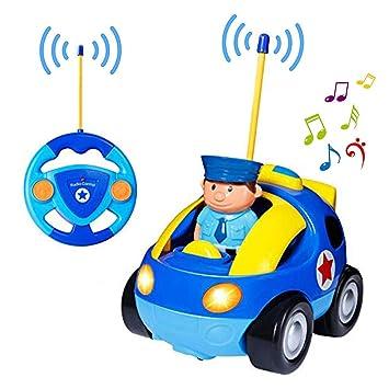 Voiture Avec Racer Télécommande Cartoon Police Rc Yojoloin Jouet fbgY6yv7