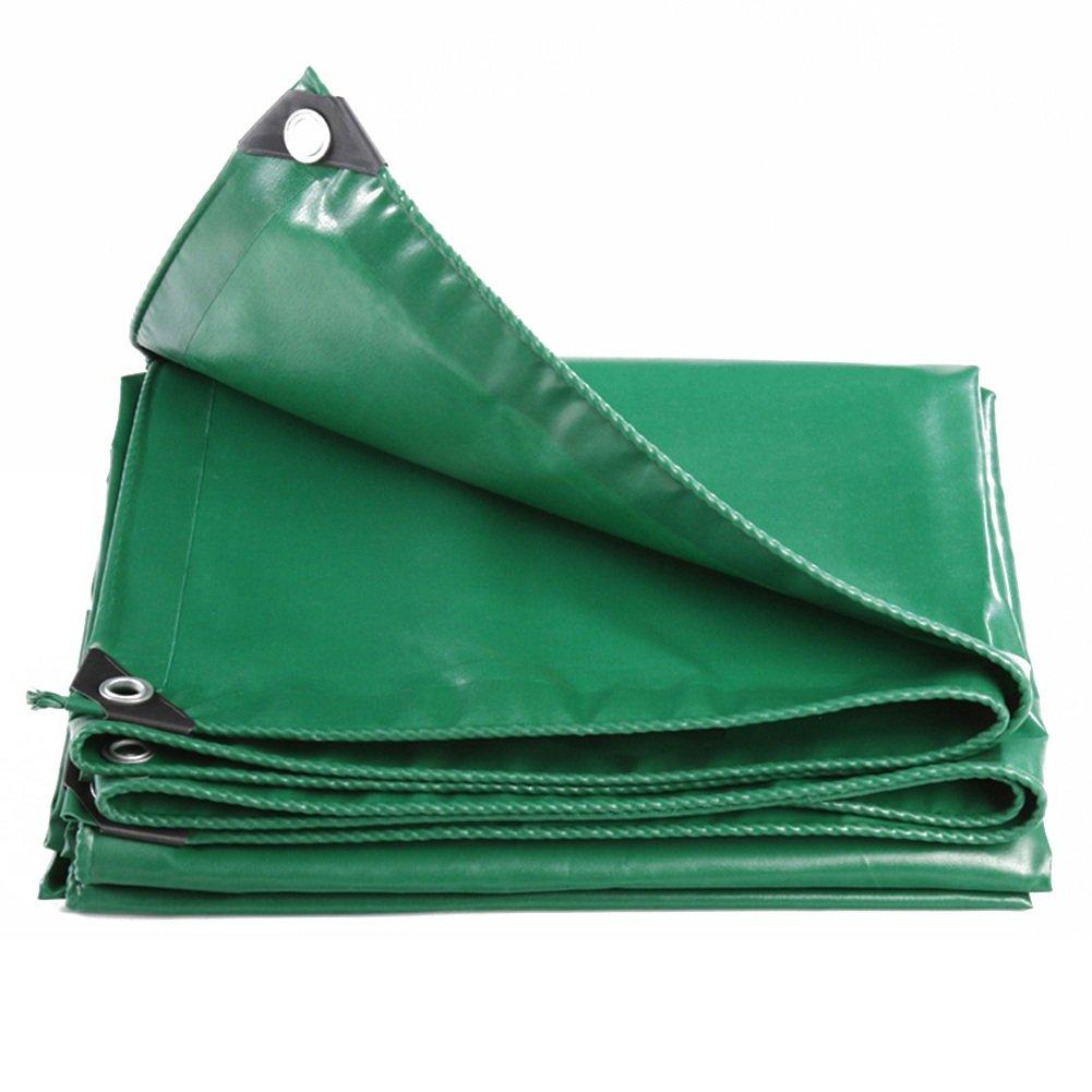 CHAOXIANG ターポリン テント 厚い 折りたたみ可能 防水 防塵の 防風 ポンチョ PVC、 530G/㎡, 12サイズ (色 : Green, サイズ さいず : 5x6m) B07FTKP77R 5x6m|Green Green 5x6m