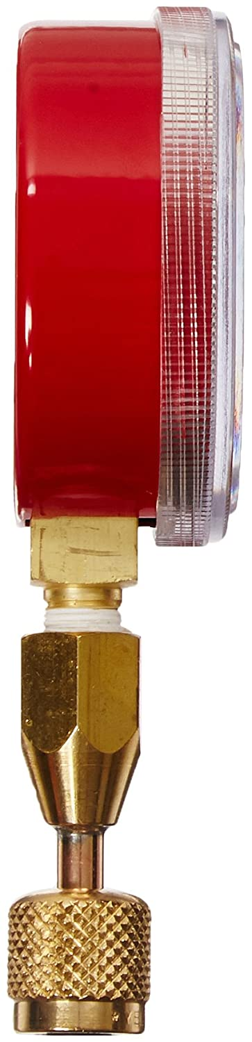 Yellow Jacket 40331 Red Pressure Gauge with 19110 Quick Coupler