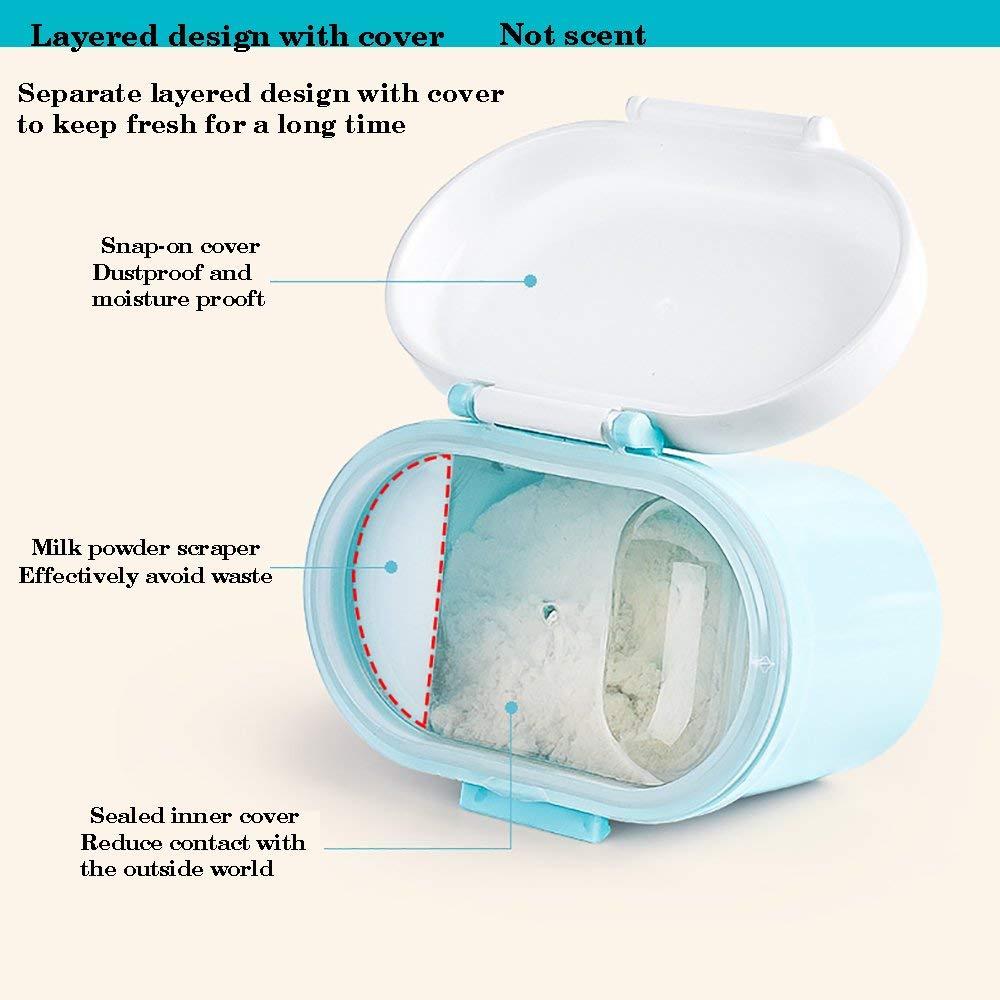 gran capacidad Contenedor de leche en polvo para beb/és para alimentos y frutas dispensador de f/órmula port/átil caja de polvo de leche para ni/ños y beb/és rosa Talla:S sin BPA