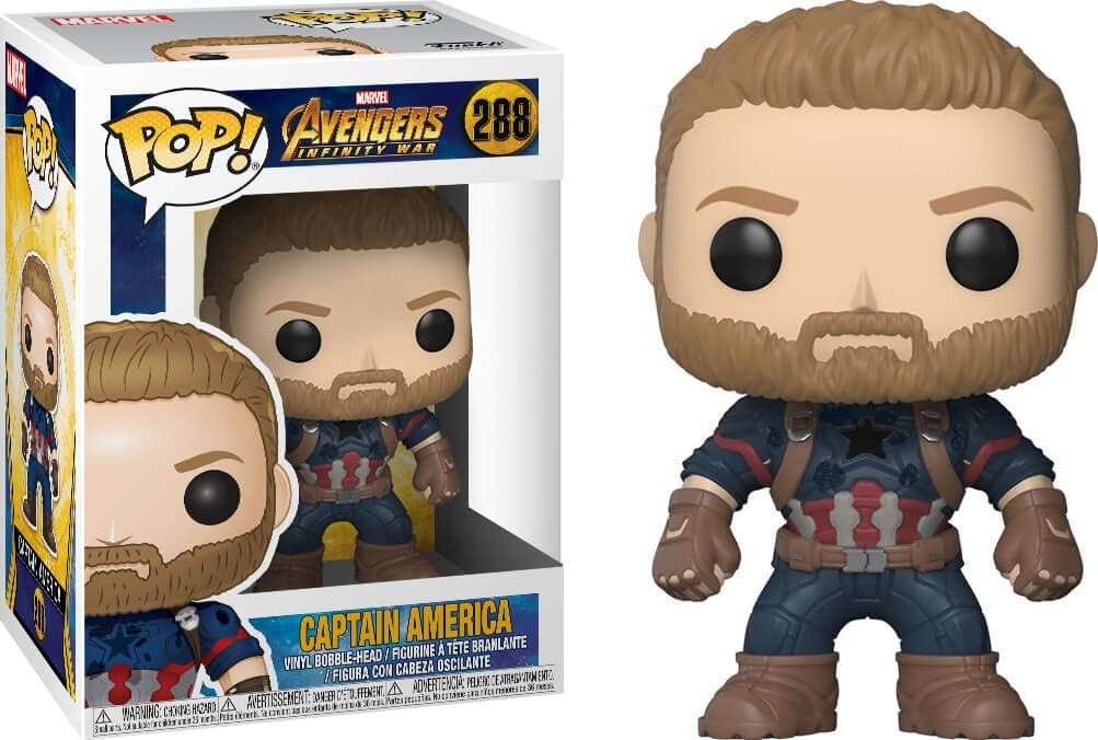 Los Vengadores Infinito POP guerra 288 capitán América Figura De Vinilo