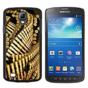 """Be-Star Único Patrón Plástico Duro Fundas Cover Cubre Hard Case Cover Para Samsung i9295 Galaxy S4 Active / i537 (NOT S4) ( Las balas pistola de oro Bling Wallpaper"""" )"""