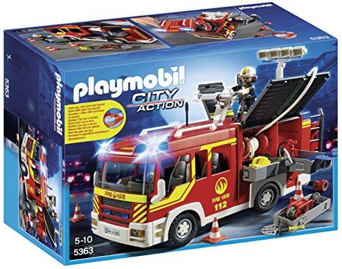 Playmobil Camión de Bomberos con Luces y Sonido