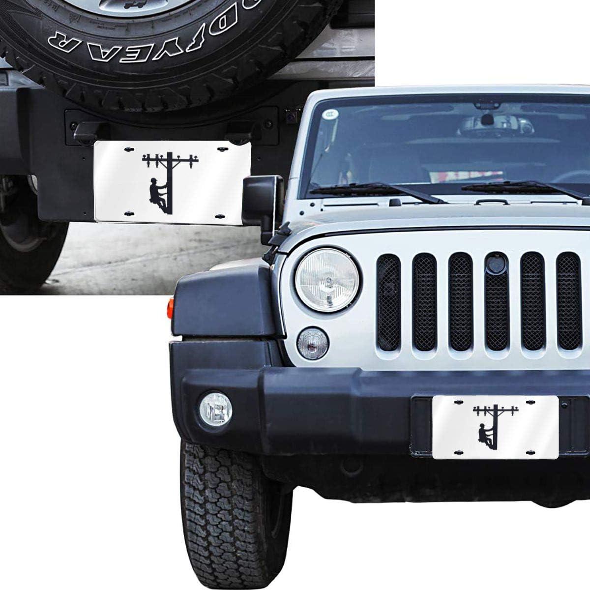 Linemen License Plate Front License Sign Car Tag Decorative Metal Plate