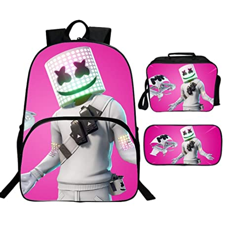 3510fbb40be0 Amazon.com: Marshmallow Backpack and Lunch Box, Boys 3D Print Music ...