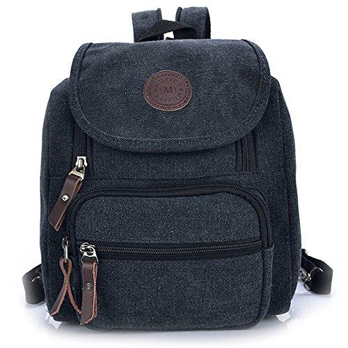 Body Shoulder Pocket Bag Cross Backpack Zipper Multi Small Hiigoo Black vxBOAHqB