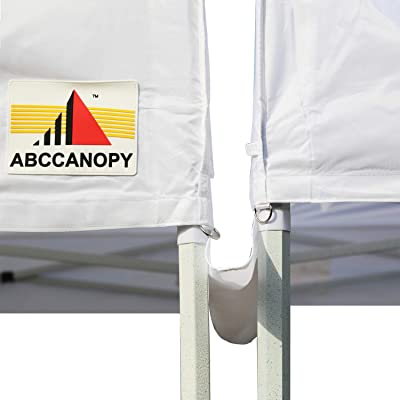 ABCCANOPY Canopy Accessories 10 Foot Canopy Rain Gutter/Light Gutter for 10' X 10' Canopy Pop up Tent (New White) : Garden & Outdoor