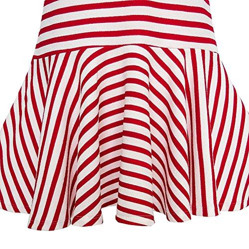 Modo Bow Abito Sole Dimensioni Tie Anni Ragazze Scuola Righe 5 Ponticello Uniforme Di Rosso 12 Di A zcqBcWPf5S