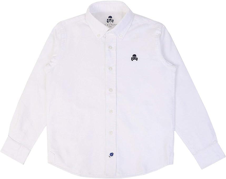 Scalpers Camisa Oxford Cuello Botones - White / 10: Amazon.es: Ropa y accesorios