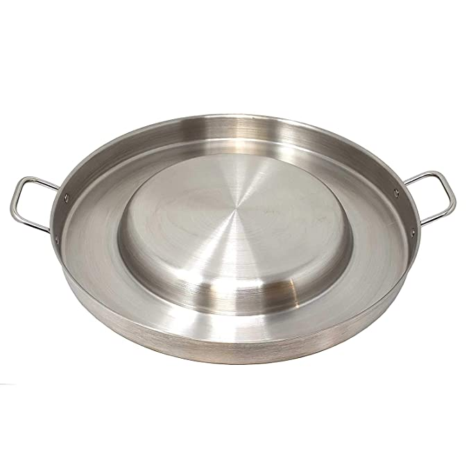 Heavy Duty Comal Convex Stainless Steel Acero Inoxidable Outdoors Frying Bowl Cookware for Stir Fry Home Restaurant Professional Commercial Use Para ...