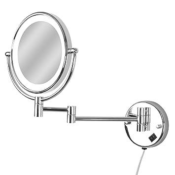 Aquamarin Miroir Cosmétique Double Face Mural Grossissant X7