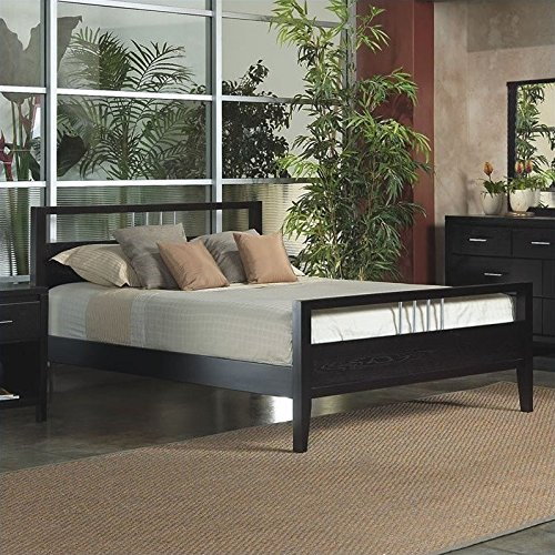 Modus Furniture NV23F6 Nevis Platform Bed, California King, Espresso - King Nevis Platform Bed
