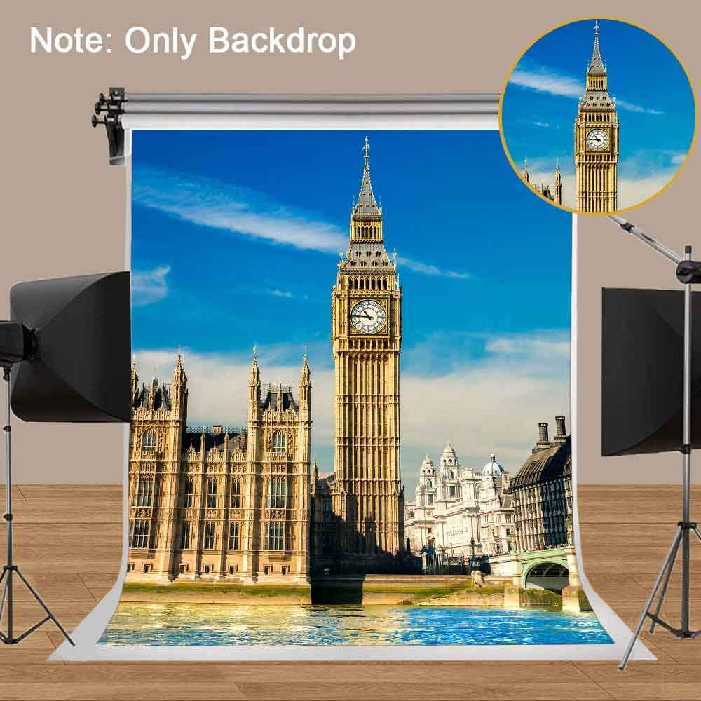 MME Backdrop 7X5ft London Landmark Ferris Wheel Background Children Photography Seamless Vinyl Photo Studio Props Backdrop GYMM129