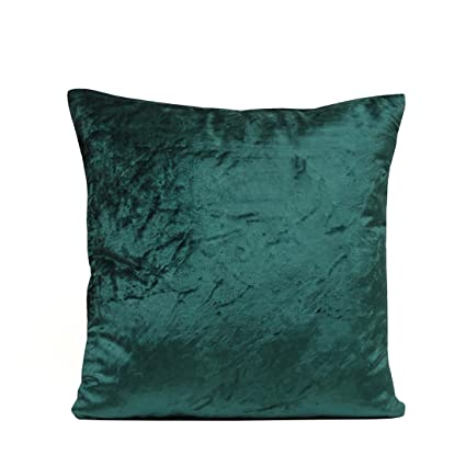 763254eb14a7 Image Unavailable. Image not available for. Color  The White Petals- Dark Teal  Velvet Pillow Cover (1 Pillowcase ...