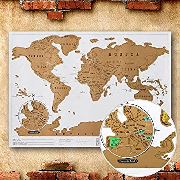 Paper traveling scratch map poster world edition convenient marking paper traveling scratch map poster world edition convenient marking toys gift home decor gumiabroncs Gallery