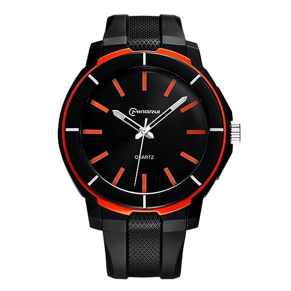Hombre Relojes digitales,Reloj de cuarzo de adolescentes Impermeable Chico Watch Correa con hebilla pasador-E: Amazon.es: Relojes
