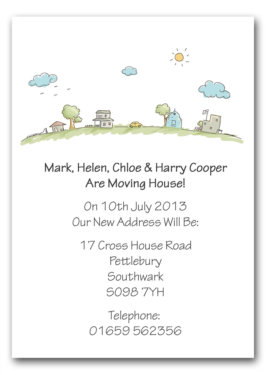 Personalised Change of Address Announcement Cards Moving